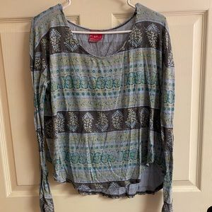 Free People Printed Long Sleeve